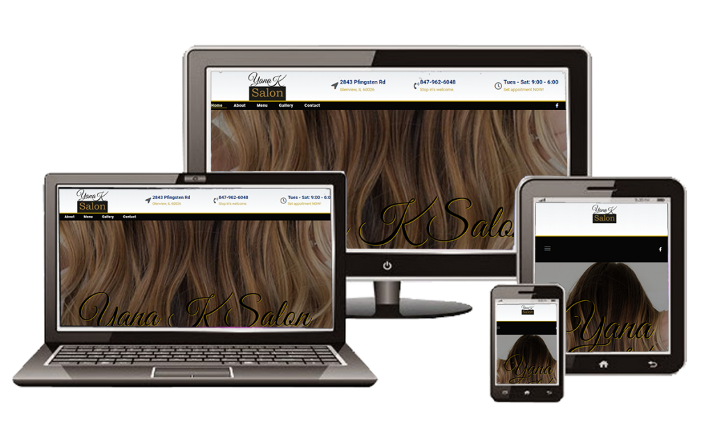 Yana K Salon Mobile Friendly